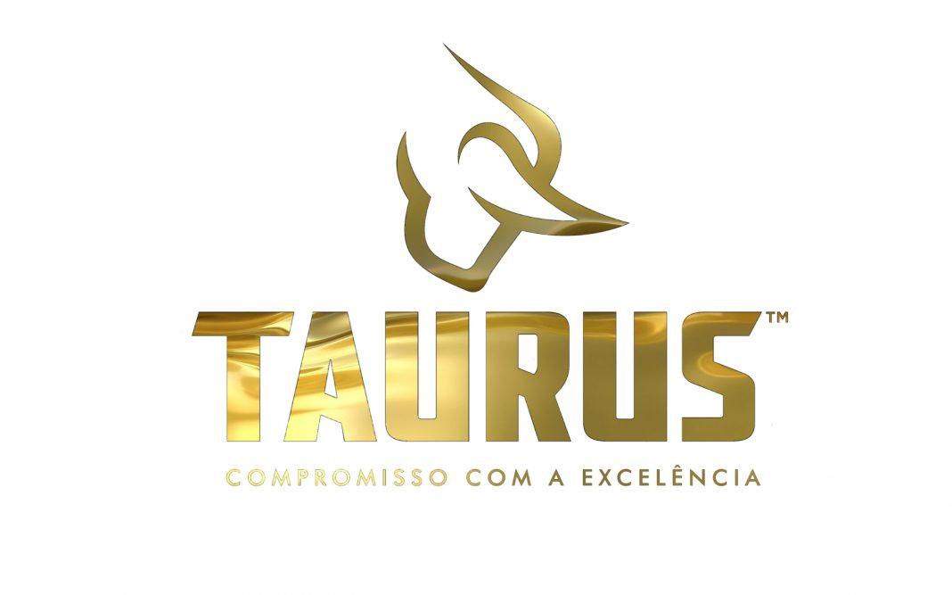 Logo Taurus Armas em amarelo ouro